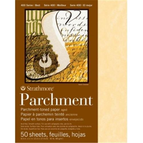 """Strathmore - Parchment Paper Sheet - 400 Series - Aged Parchment Paper Sheet - 11"""" x 17"""" (25 Shts./Pkg.)"""
