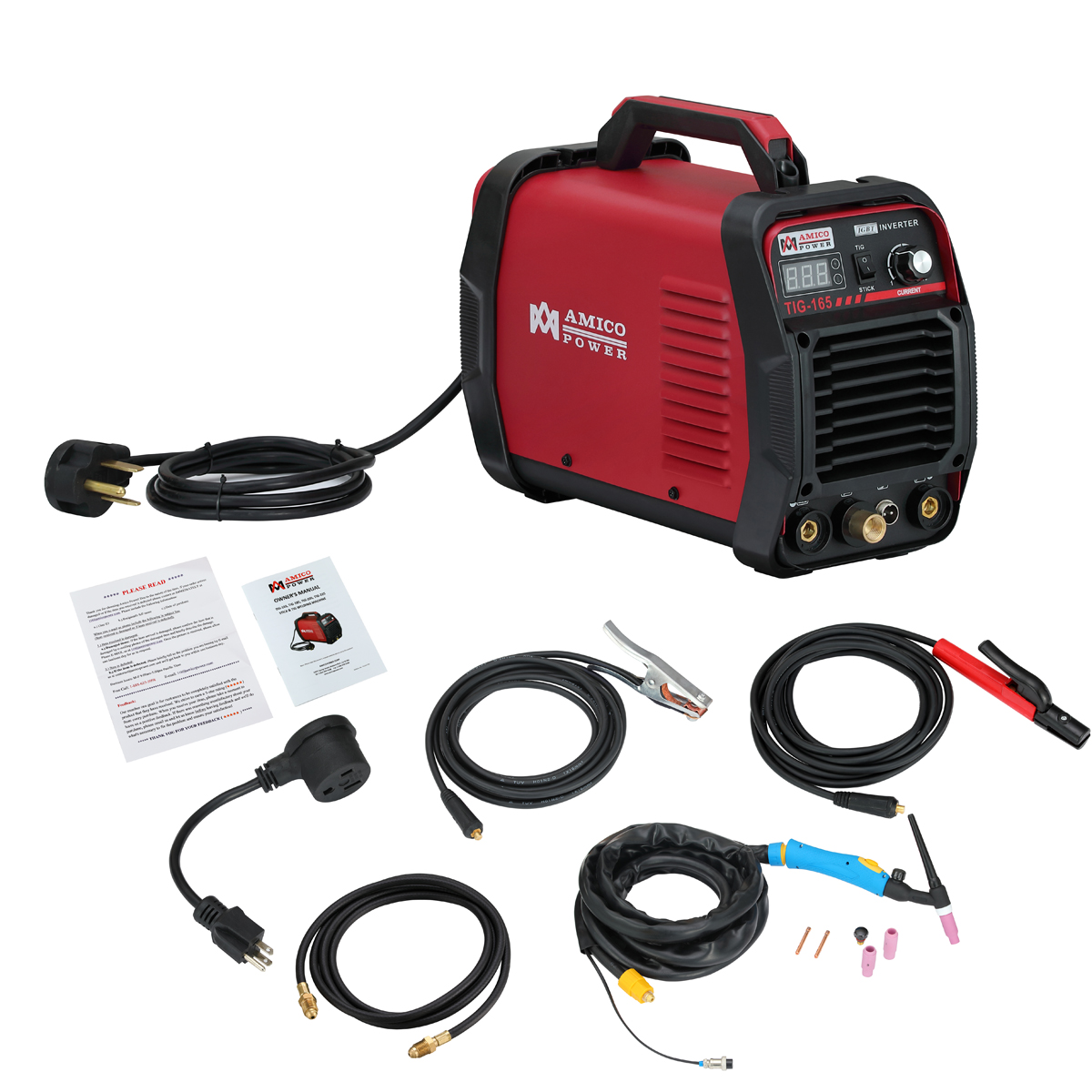 Amico TIG-165 160 Amp HF TIG Torch Stick Arc Welder 115 & 230V Dual Voltage Welding by Amico Power Corp.