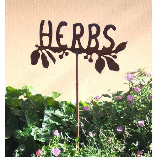 Z Garden Party Herbs Garden Stake by