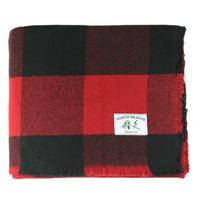 Melange Home Buffalo Plaid Wool Blanket
