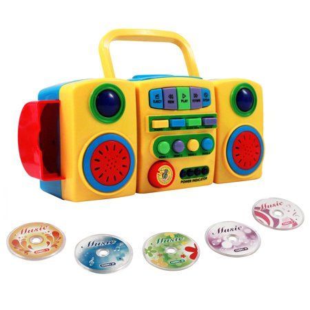 interactive kids music mini disc cd player with light up. Black Bedroom Furniture Sets. Home Design Ideas