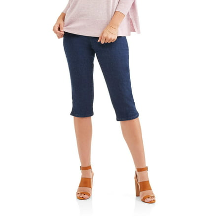 Women's Stretch Denim Pull-On Capri Pants