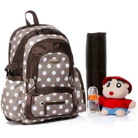 colorland large backpack diaper bag khaki polka. Black Bedroom Furniture Sets. Home Design Ideas
