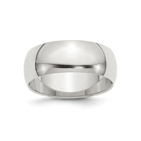 8mm Half Round Sterling Silver Wedding Band Ring Size 13.5 8mm Band Sterling Silver Ring