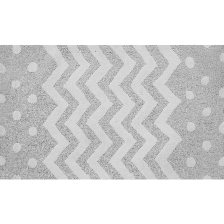 The Rug Market Zigzag Grey Size 4.7' x 7.7' Area Rug