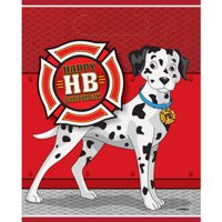 Firefighter Birthday Favor Bags, 8ct