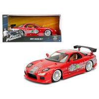 """Dom's Mazda RX-7 Red Fast and Furious"""" Movie 1/24 Diecast Model Car by Jada"""""""