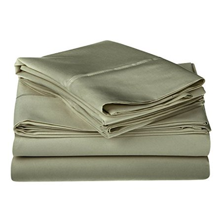 Egyptian Cotton Single - 1200 Thread Count 100% Egyptian Cotton, Single Ply, Queen Bed Sheet Set, Solid, Sage