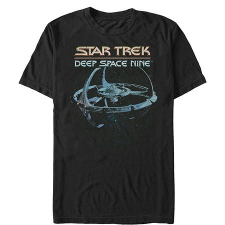 Star Trek Men's DS9 Classic Space Station View T-Shirt (T-rex Merchandise)