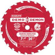 "Diablo D0724DA 7-1/4"" 24T Diablo Demo Demon Framing and Demolition Saw Blade"