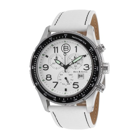 Colonel Mens Quartz Watch Genuine Leather Swiss Chronograph BS 10062 (Ben And Sons Mens Watch)
