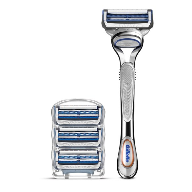 Gillette Skinguard Mens Razor Handle and 4 Blade Refills