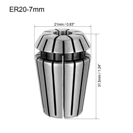 ER20 7mm Spring Collet Chuck for CNC Engraving Machine Lathe Milling Tool - image 2 of 3
