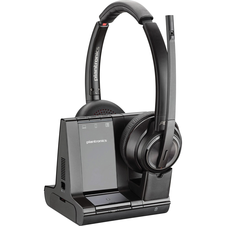 Plantronics Plnw8220 Savi 8200 Series Wireless Dect Headset System Black Walmart Com Walmart Com