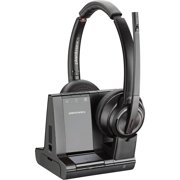 Plantronics, PLNW8220, Savi 8200 Series Wireless Dect Headset System, Black