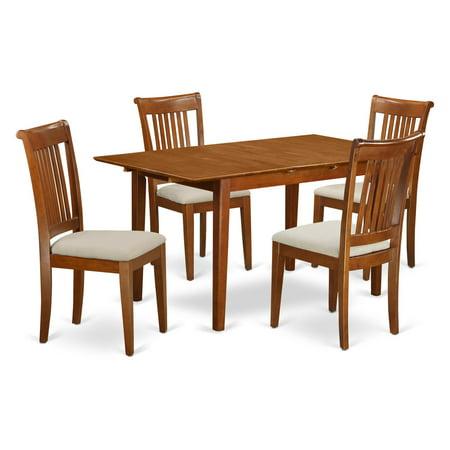 Windsor Leaf (East West Furniture Picasso 5-Piece Windsor Dining Table Set )