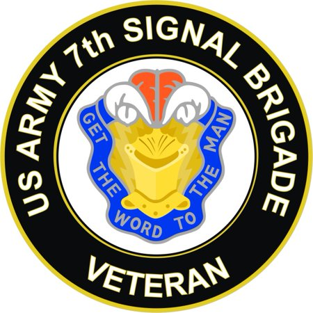 3.8 Inch U.S. Army 7th Signal Brigade Unit Crest Veteran Sticker Decal
