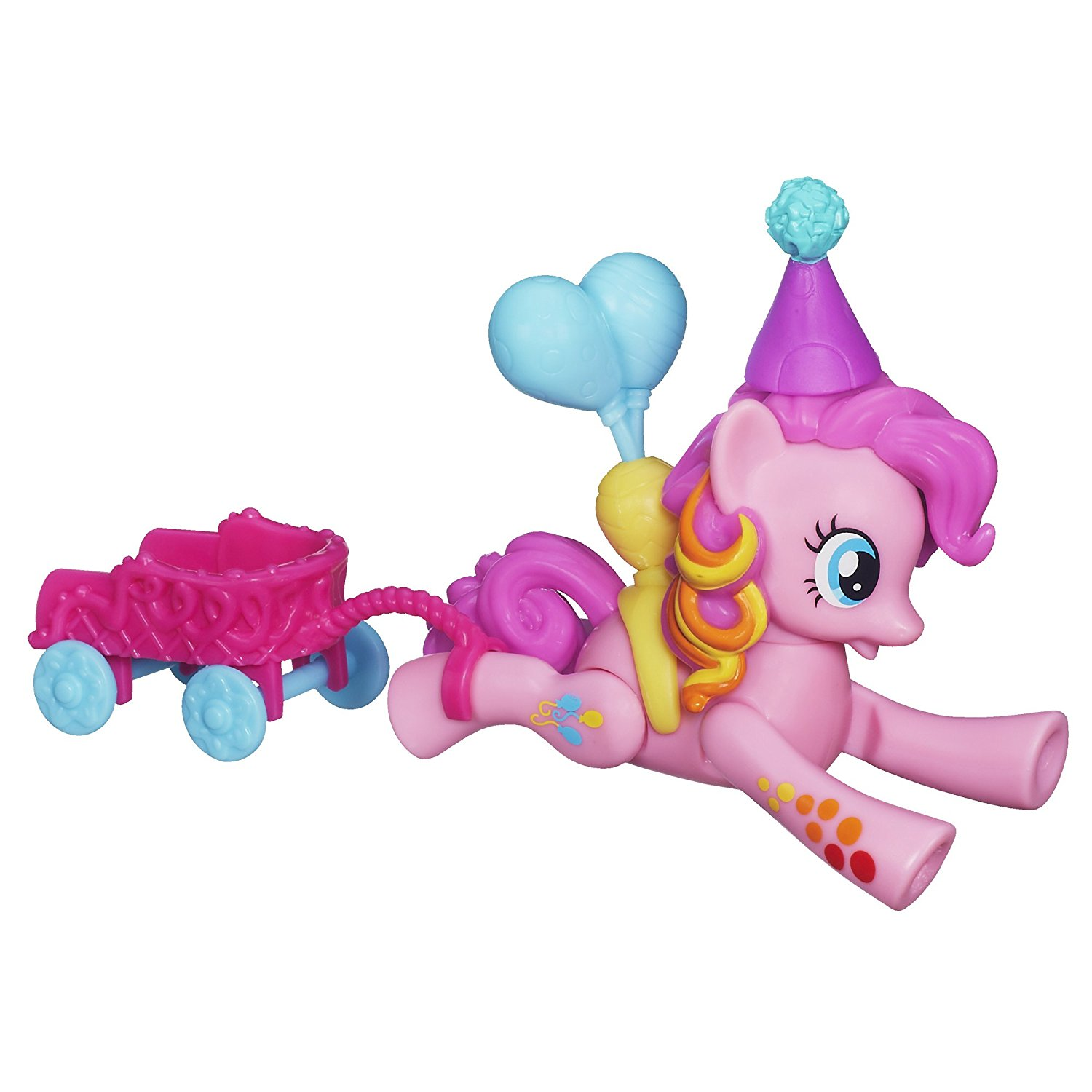 Zoom n Go Pinkie Pie Doll, Pinkie Pie figure has balloons By My Little Pony Ship from US