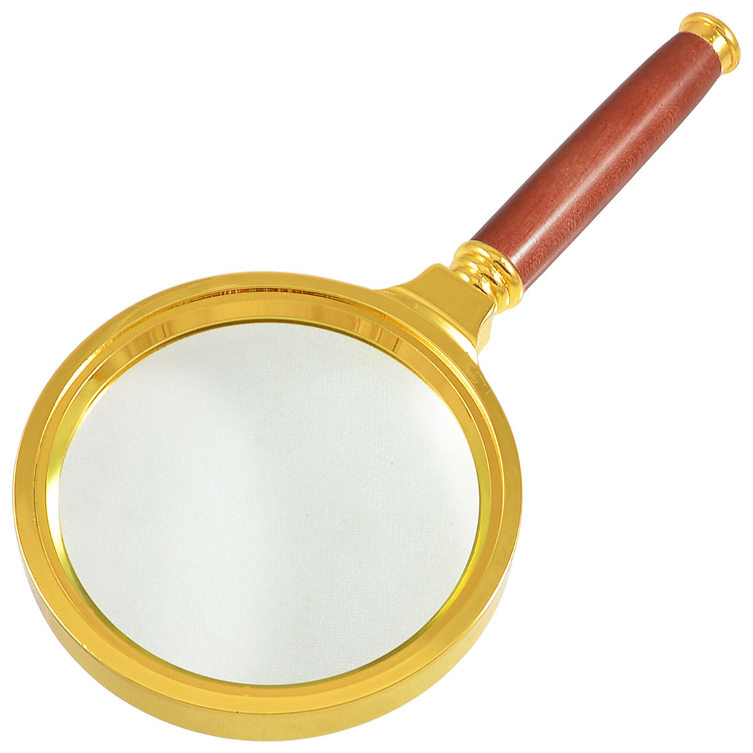 Reading Map Newspaper 10X Gold Tone Rosewood Magnifier 80mm Dia