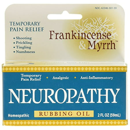 Frankincense & Myrrh Neuropathy Oil with Essential Oils for Pain Relief, 2 Fluid Ounces