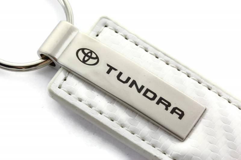Toyota Black CF Carbon Fiber Leather Logo Key Chain Ring Tag Fob Lanyard Metal
