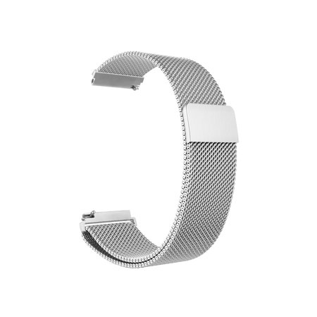 For Gear S3 Watch Band, [Unique Magnet Lock] Loop Adjustable Stainless Steel Replacement Bracelet Wristband, Silver