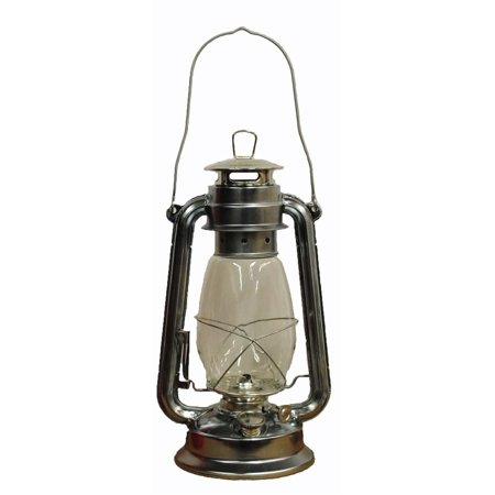 Silver Hurricane Kerosene Oil Lantern Emergency Hanging Light / Lamp - 12 Inches