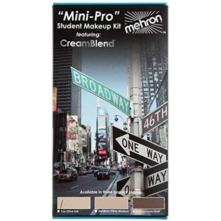Mehron Makeup Mini-Pro Student Makeup Educational Kit (Fair/Olive Fair)  - Grayscale Makeup For Halloween