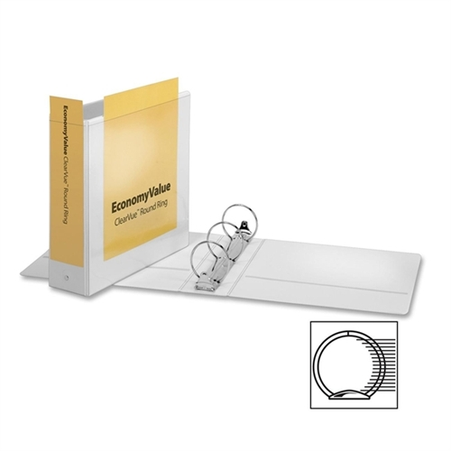 Cardinal EconomyValue ClearVue Round Ring Binder 90091
