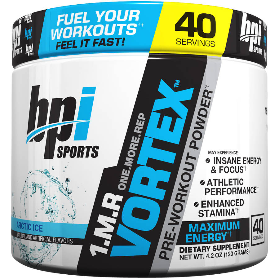 BPI Sports 1.M.R. Vortex Arctic Ice Pre-Workout Dietary Supplement Powder, 4.2 oz