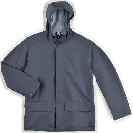 HELLY HANSEN 70129_590-M Rain Jacket, PVC/Polyester, Navy, M