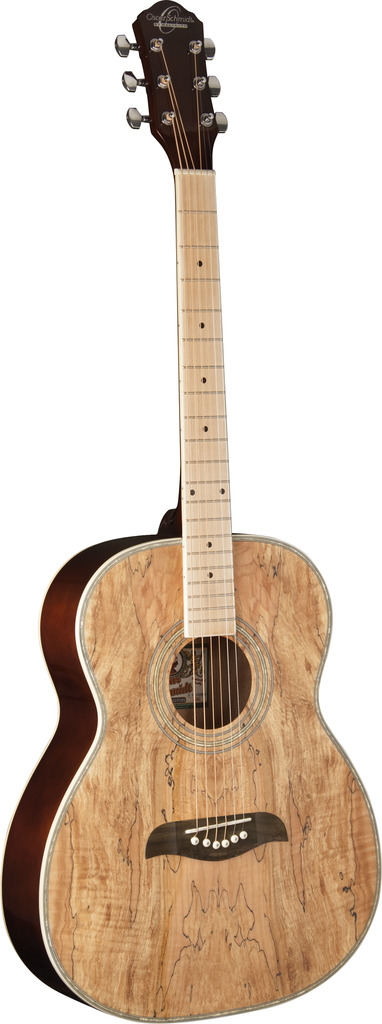 Oscar Schmidt OF2MFSM 6-String Folk-style Acoustic Guitar with Spalted Maple Top and Maple... by Oscar Schmidt