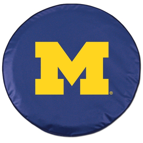 NCAA Tire Cover by Holland Bar Stool - Michigan Wolverines, Navy - 30.75'' x 10''