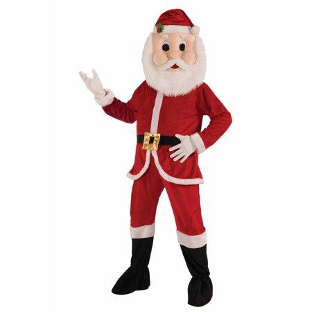 Santa Economy Mascot Men's Adult Halloween Costume - Santa Mascot Costume
