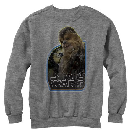 Star Wars The Force Awakens Men's Vintage Chewbacca Sweatshirt All Star Pullover