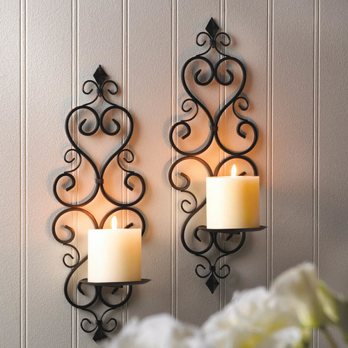 Zingz and Thingz Fleur-De-Lis Wall Sconce Duo (Set of 2) by Zingz & Thingz