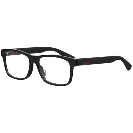Gucci GG0176OA Plastic Rectangular Eyeglasses Size 56 (Gucci Plastic Frames)