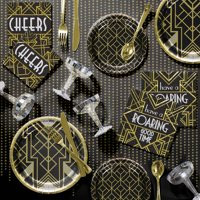 Roaring 20s Deluxe Party Supplies Kit for 8 Guests