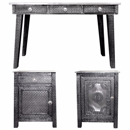 Entrada Of Traditional Wooden Console Table Desk Gray