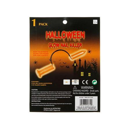 Darice Halloween Glowing Nail Headband Orange (Orange And White Halloween Nails)