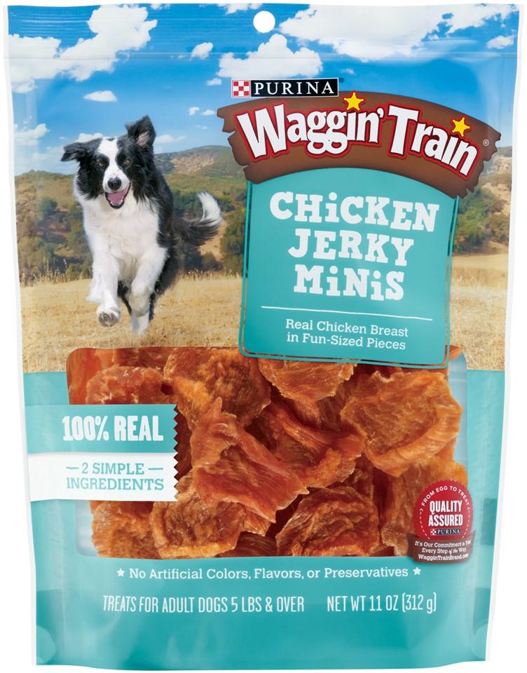 Purina Waggin' Train Chicken Jerky Minis Dog Treats 11 oz. Pouch by Nestle Purina