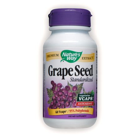 Natures Way Premium Extract Standardized Grape Seed Supplements 60 Vcaps (Extract Natures Way)