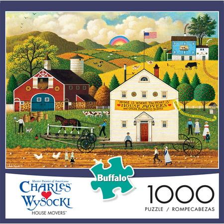 Buffalo Games Charles Wysocki Item 11478 - House Movers- 1000 Piece Jigsaw Puzzle