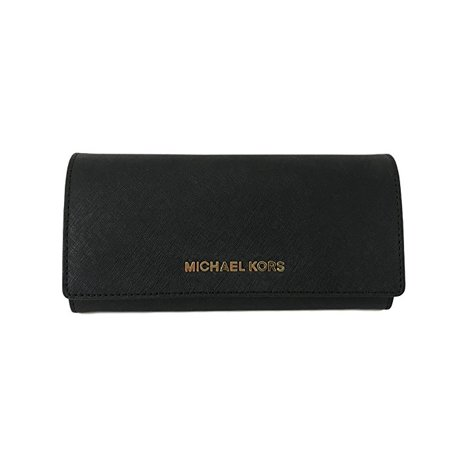 026efa27b78743 Michael Kors - Michael Kors Jet Set Travel Carry All LTR Saffiano Leather  Wallet in Black - Walmart.com