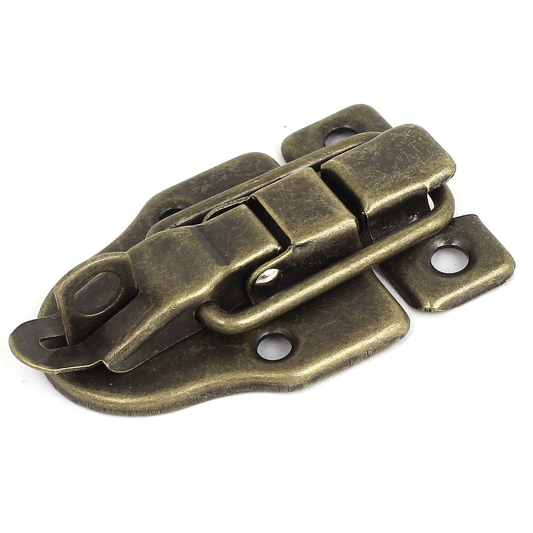 Cabinet Boxes Duckbilled Metal Toggle Latch Catch Hasp Bronze Tone w Screws