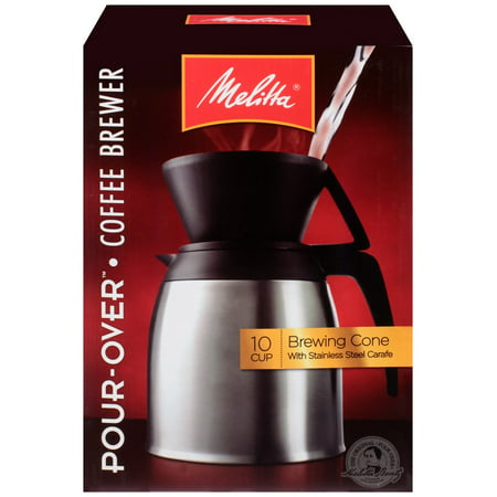 Melitta Pour-Over Brewer 10 Cup Coffee Maker with Stainless Thermal Carafe - Walmart.com