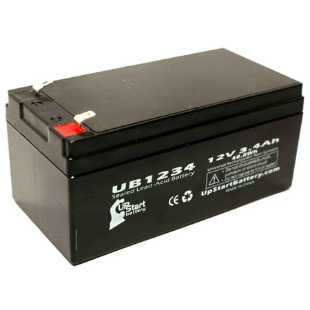B & B Battery BP3.6-12 Battery Replacement - UB1234 Universal Sealed Lead Acid Battery (12V, 3.4Ah, 3400mAh, F1 Terminal, AGM, SLA) - Includes TWO F1 to F2 Terminal Adapters - image 4 de 4