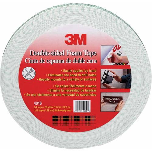 """3M 4016-1""""x36YD 1"""" x 36yd Double Sided Foam Tape"""
