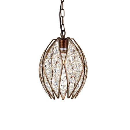 1-Light Dark Bronze Pendant (Tiffany Oval)