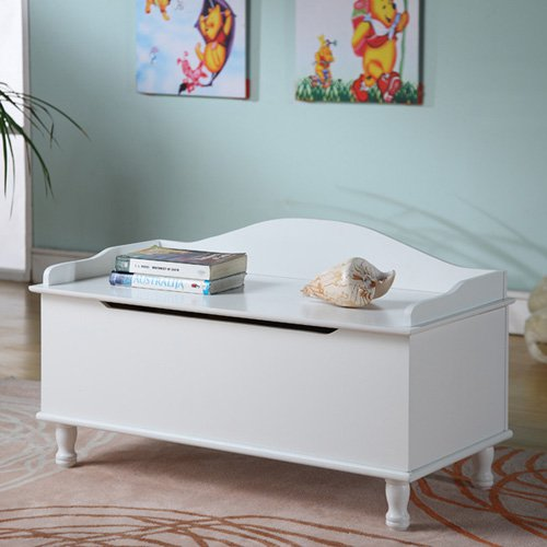 InRoom Designs Storage Bench - White